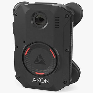 Axon Body 3 Body Camera with Magnet Mount 3D model