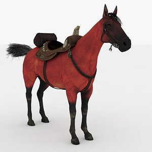 3D Red Horse Rigged