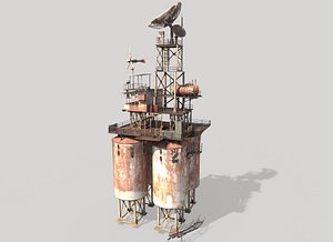 3D Post-Apocalyptic Outpost Tower 2
