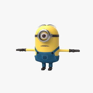 minion stuart cartoon animation 3D