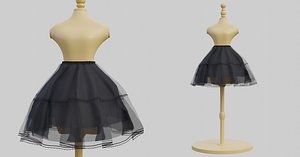 dress fashion garment 3D model