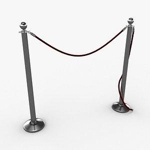 3D model barrier rope