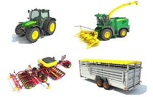 3D model farm combine