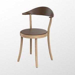 Plank Monza restaurant Chair brown finish 3D model