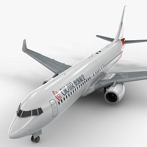 3D boeing 737-8 okay airways
