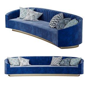 3D model Art deco sofa