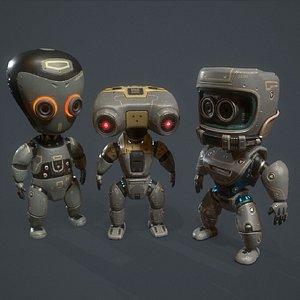 3D robot kids model
