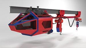 3D Pneumatic trolley model