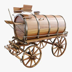 3D decorative wine barrel