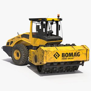 BOMAG BW226 PDH5 Single Drum Compactor Dirty Rigged 3D model