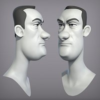 Cartoon male character Dave base mesh