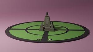 3D model ciudad mitad del