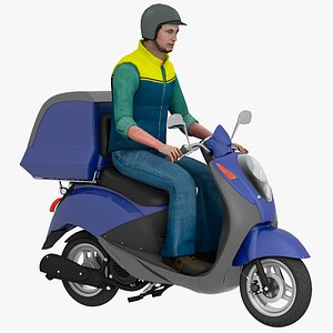 scooter man 3D model