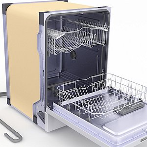 dishwasher built built-in 3D model