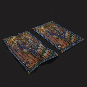 3D Carrow Psalter Adoration of the  Magi Tapestry