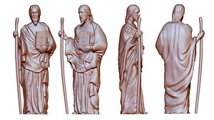 Statue of saint Notre Dame 3D