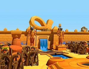 3D egypt stylized