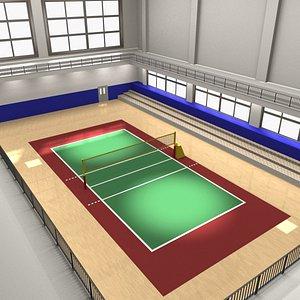 volleyball field 3D model