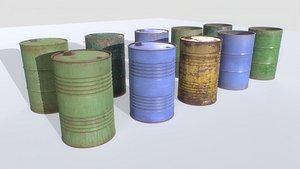 Barrels mix Pack 1 3D model