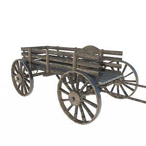 cart car wooden 3D