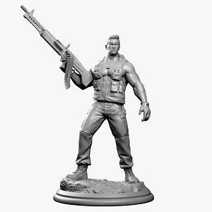 print soldier 3D model