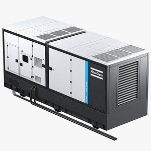 3D Atlas Copco QIS Power Generator - Industrial Diesel generator model