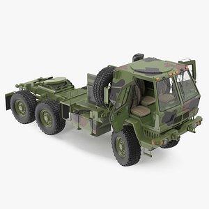 Oshkosh FMTV 5 Ton Tractor Camo Rigged 3D model