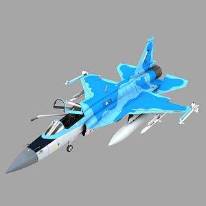 jf-17 myanmar rigged model