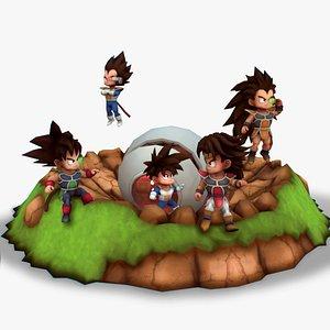 Saiyan Warriors 3D model