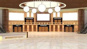 3D model Virtual lobby