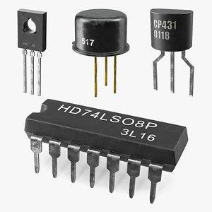 transistors 2 3D model