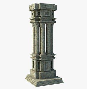 3D architecture column model