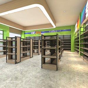 3D convenience store supermarket model