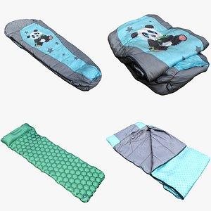 3D Sleeping Bag Collection 03 model