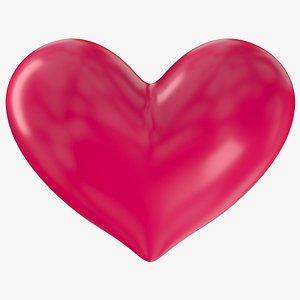heart s shape 3D model