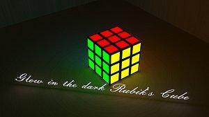 3D led rubik s cube model
