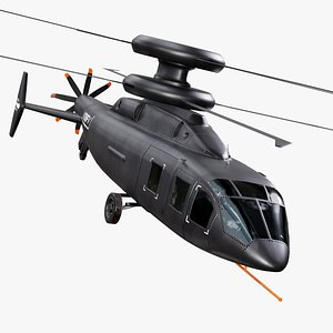 Sikorsky-Boeing SB-1 Defiant Helicopter 3D