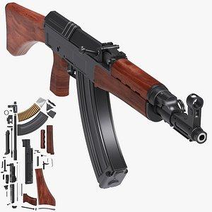 assault rifle vz-58 3D model