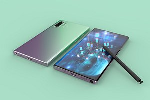 3D model Curved screen mobile phone realistic galaxy Samsung