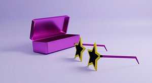 shape star spectacle 3D model
