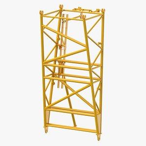 3D crane f intermediate pivot model