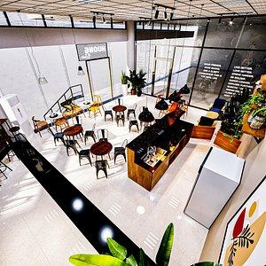 restaurant cafe bistro 3D model
