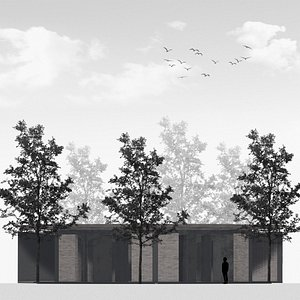 cottage architecture 3D model