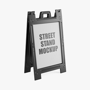 3D black street stand