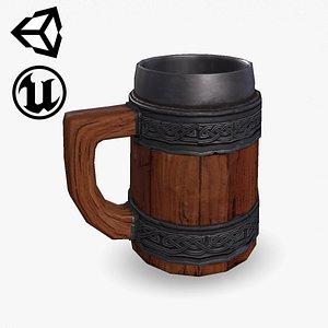 Fantasy Wooden Beer Mug 3D