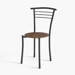 3D model Sofia Dining Chair steel painted