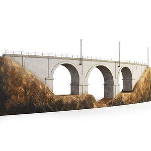 3D model Train bridge span viaduct