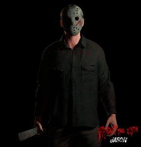 3D Jason Friday the 13th model
