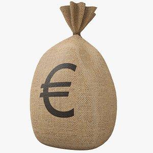 3D model Money Bag v2 Euro with Pbr 4K 8K