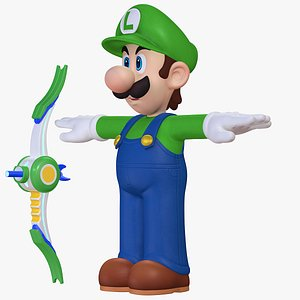 3D Luigi Character Weapon Mario Sparks of Hope  8K